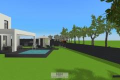 Außenansicht_Süden_mit geplantem Pool
