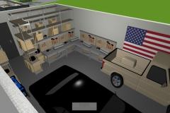 Luftbildansicht Garage