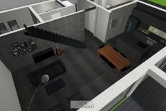 Luftbildansicht Wohnzimmer