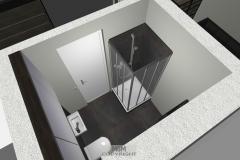 Luftbild vom Gäste-WC