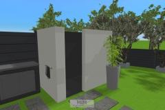 Outdoor-Dusche (geplant)