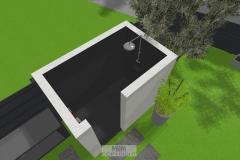 Luftbild der geplanten Outdoor-Dusche