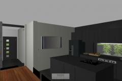Küche und Eingangstür