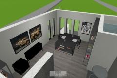 Luftbild Büro